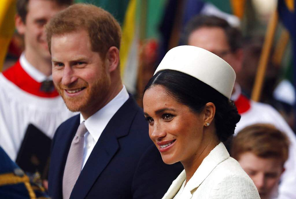 File photo: Prince Harry and Meghan. (AP Photo/Frank Augstein)