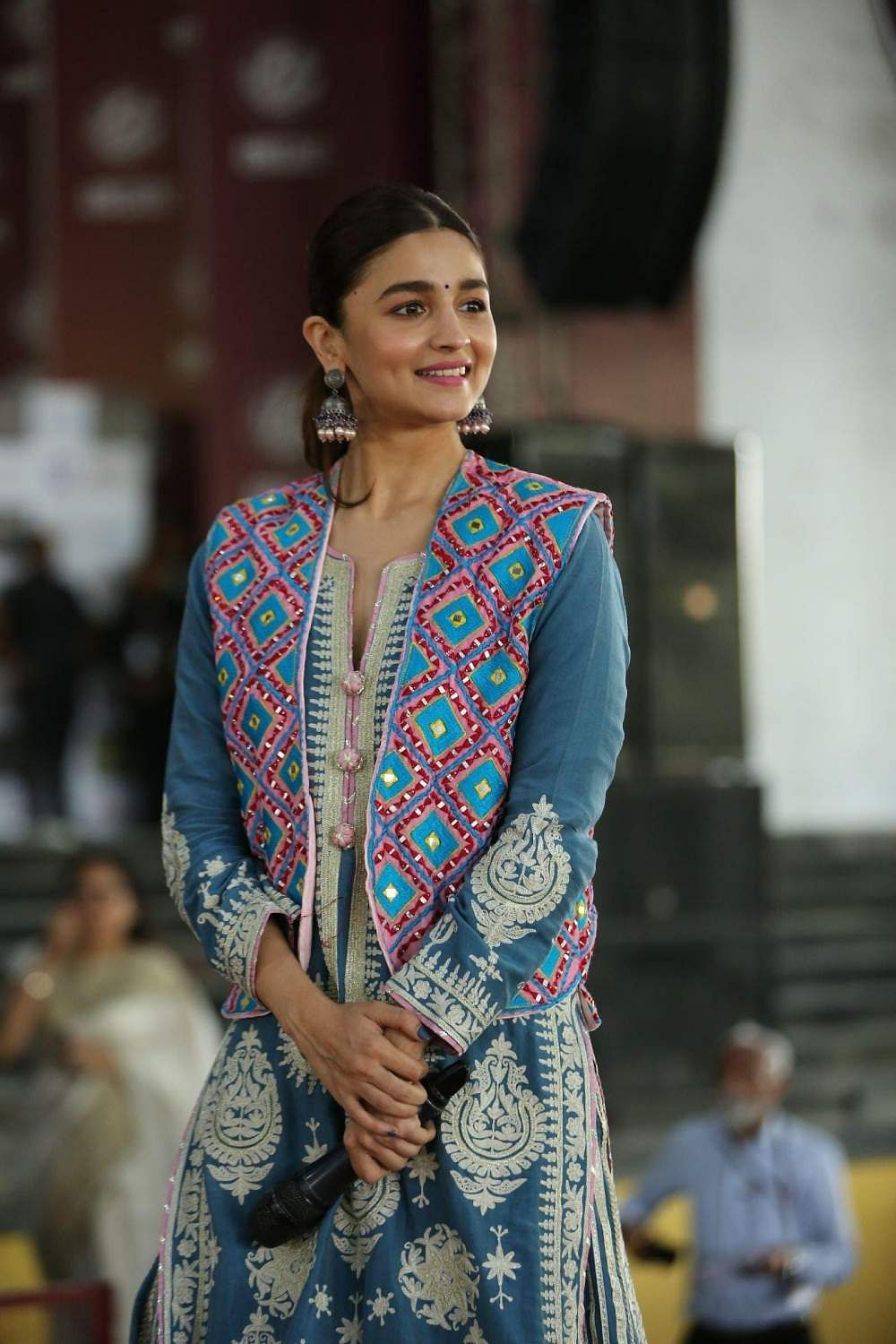 Jaipur: Alia Bhatt during a programme to promote their upcoming film 'Kalank' in Jaipur on April 11, 2019. (Photo: IANS)