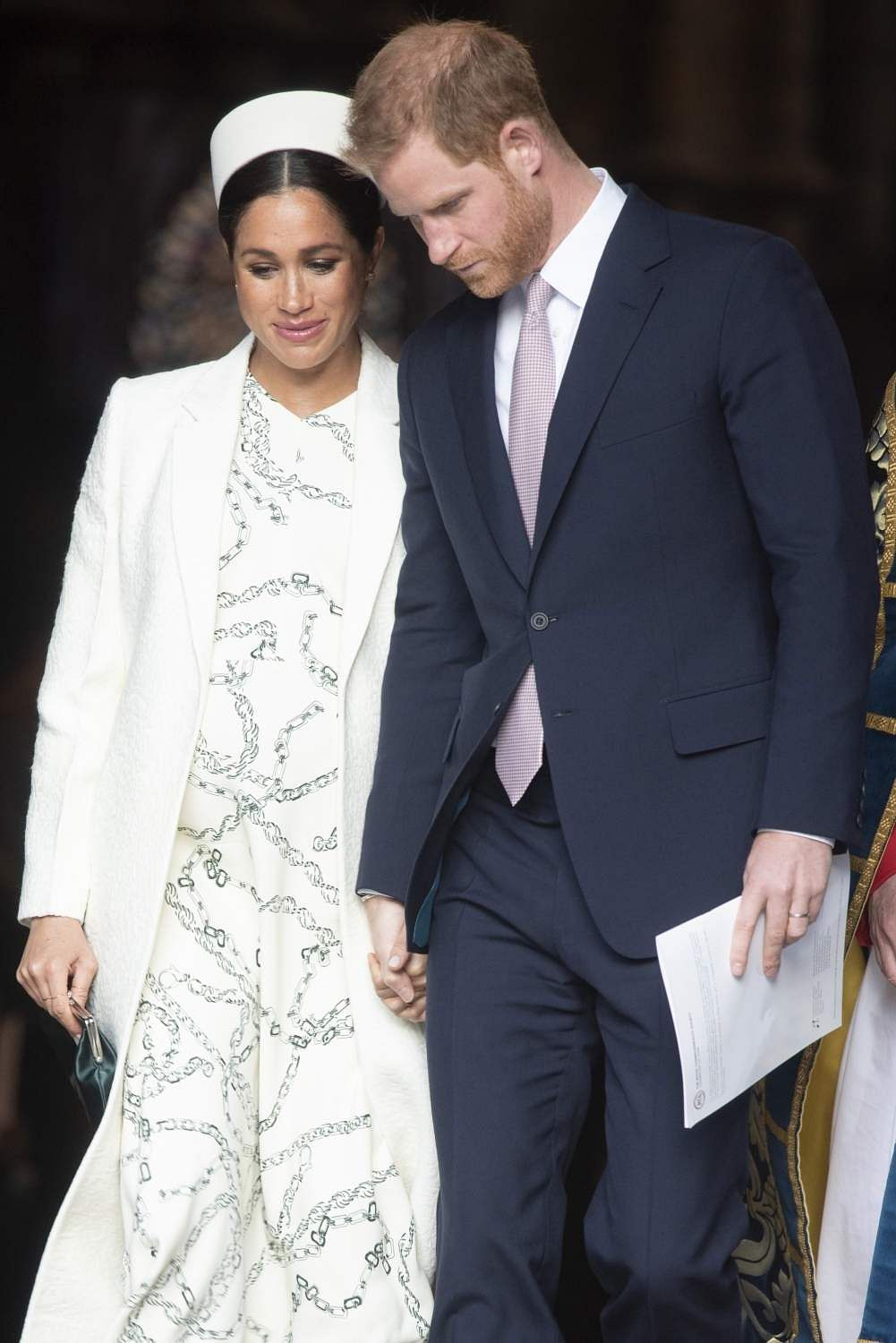 March 11, 2019: Prince Harry and his wife Meghan at Westminster Abbey in London. (Xinhua/Ray Tang/IANS)