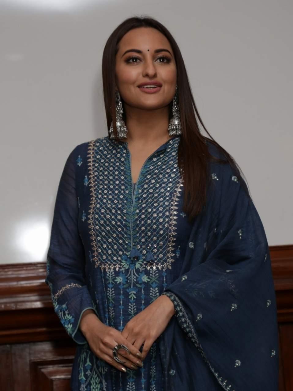 New Delhi: Actress Sonakshi Sinha during a programme organised to promote upcoming film 'Kalank' in New Delhi, on April 12, 2019. (Photo: Amlan Paliwal/IANS)