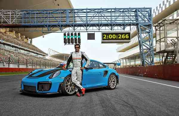 Narain Karthikeyan at the Buddh International Circuit. Courtesy: Porsche India