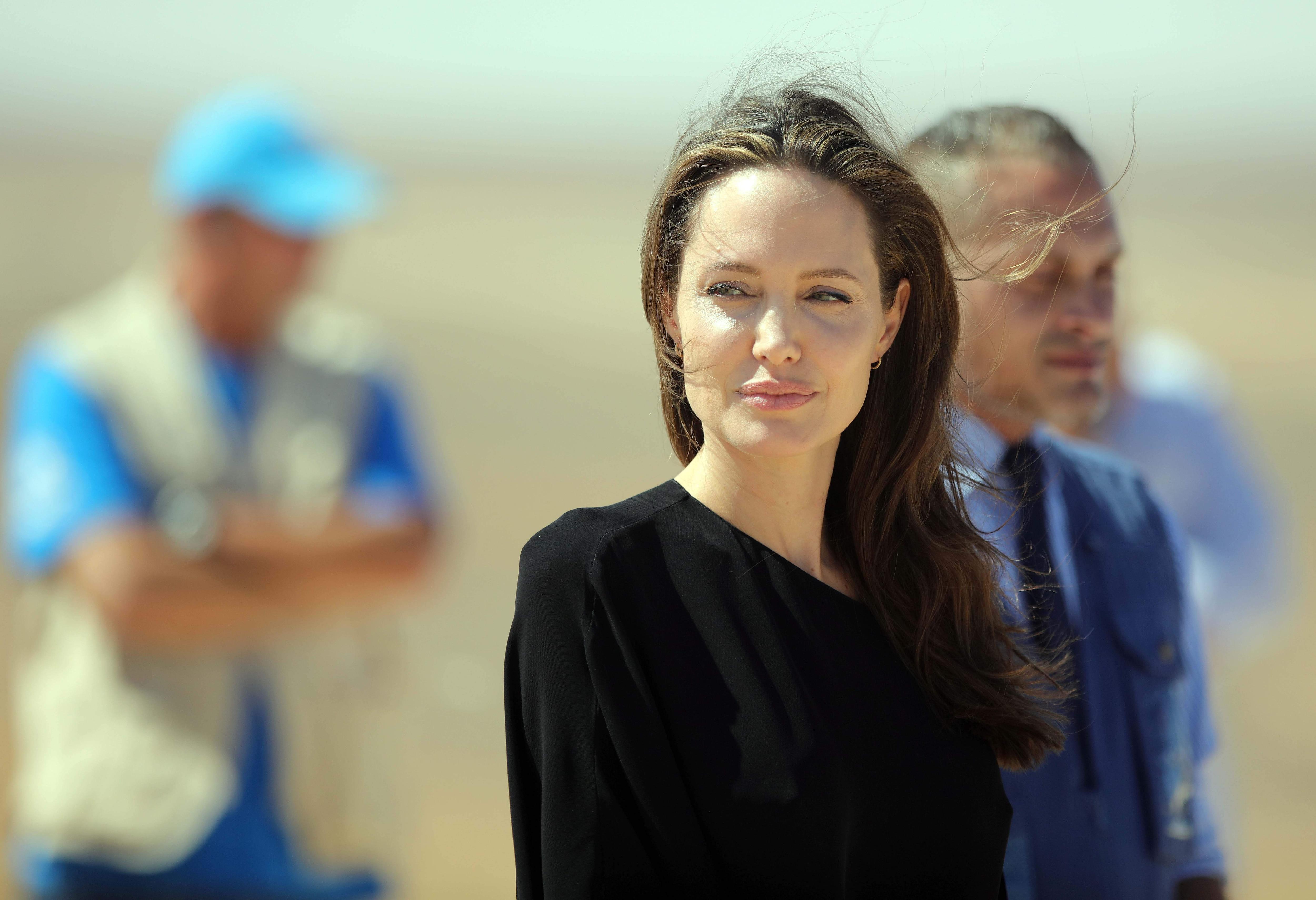 Angelina Jolie (Xinhua/Mohammad Abu Ghosh/IANS)