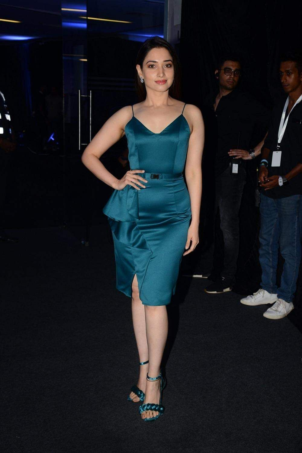 Actress Tamannaah at American makeup artist Bobbi Brown's masterclass in Mumbai, on April 13, 2019. (Photo: IANS)