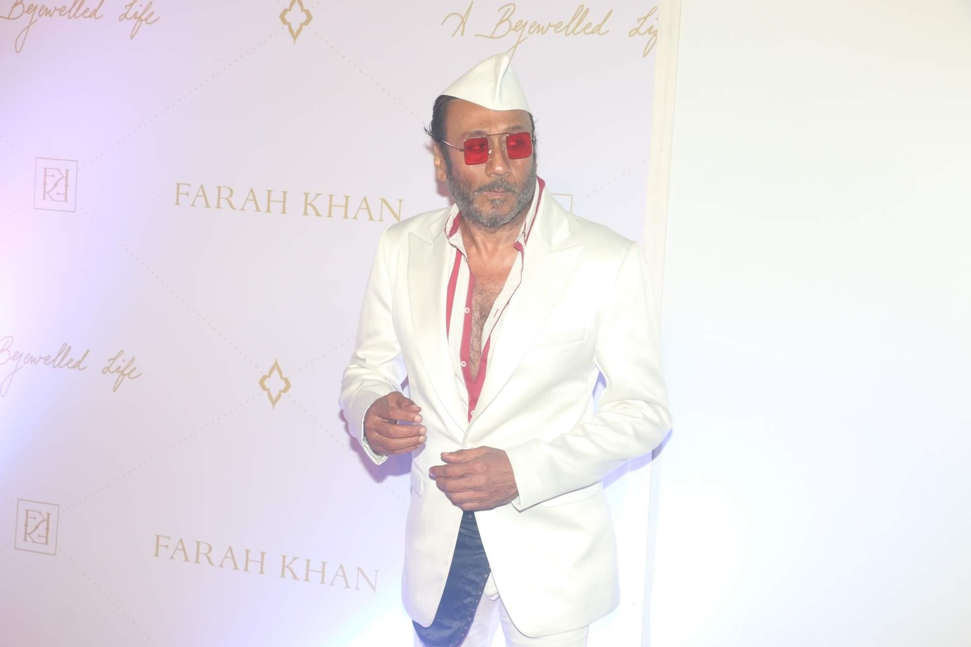 Mumbai: Actor Jackie Shroff at the launch of Jewellery designer Farah Khan Ali's book, in Mumbai, on April 16, 2019. (Photo: IANS)