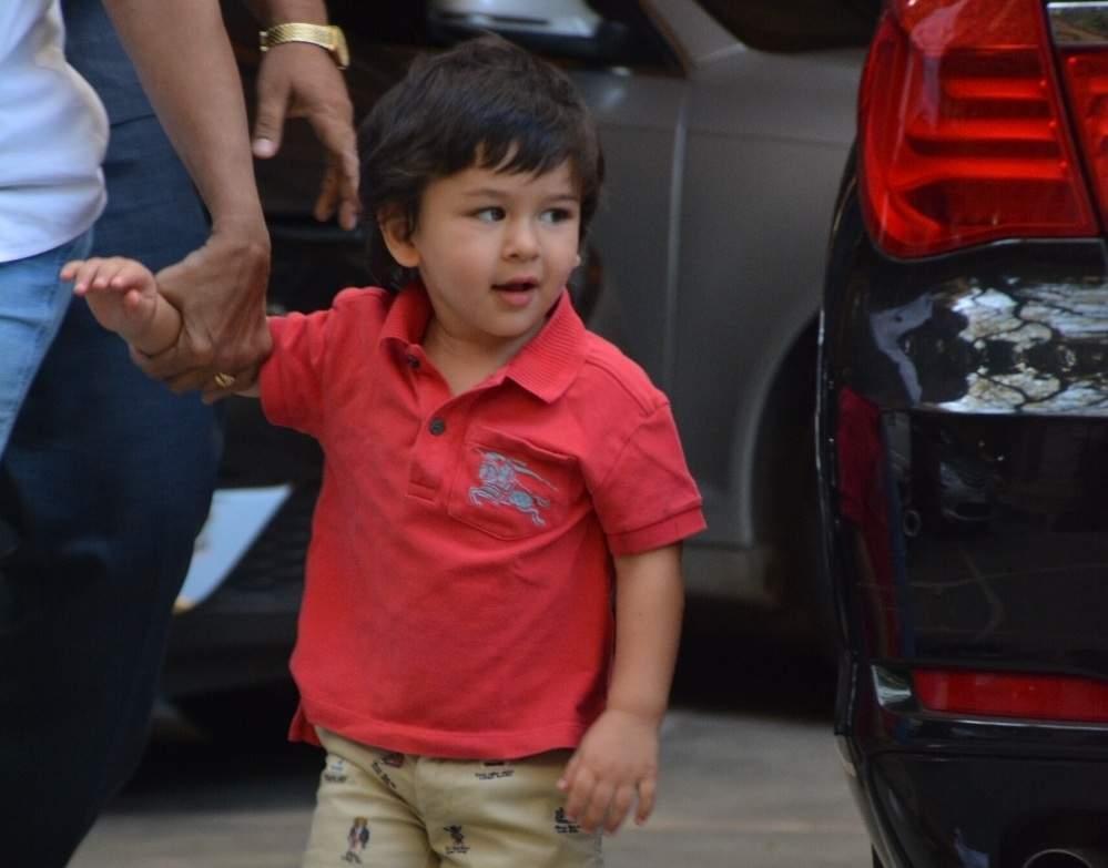Mumbai: Taimur Ali Khan, son of actors Saif Ali Khan and Kareena Kapoor seen at Bandra oof Mumbai on April 17, 2019. (Photo: IANS)