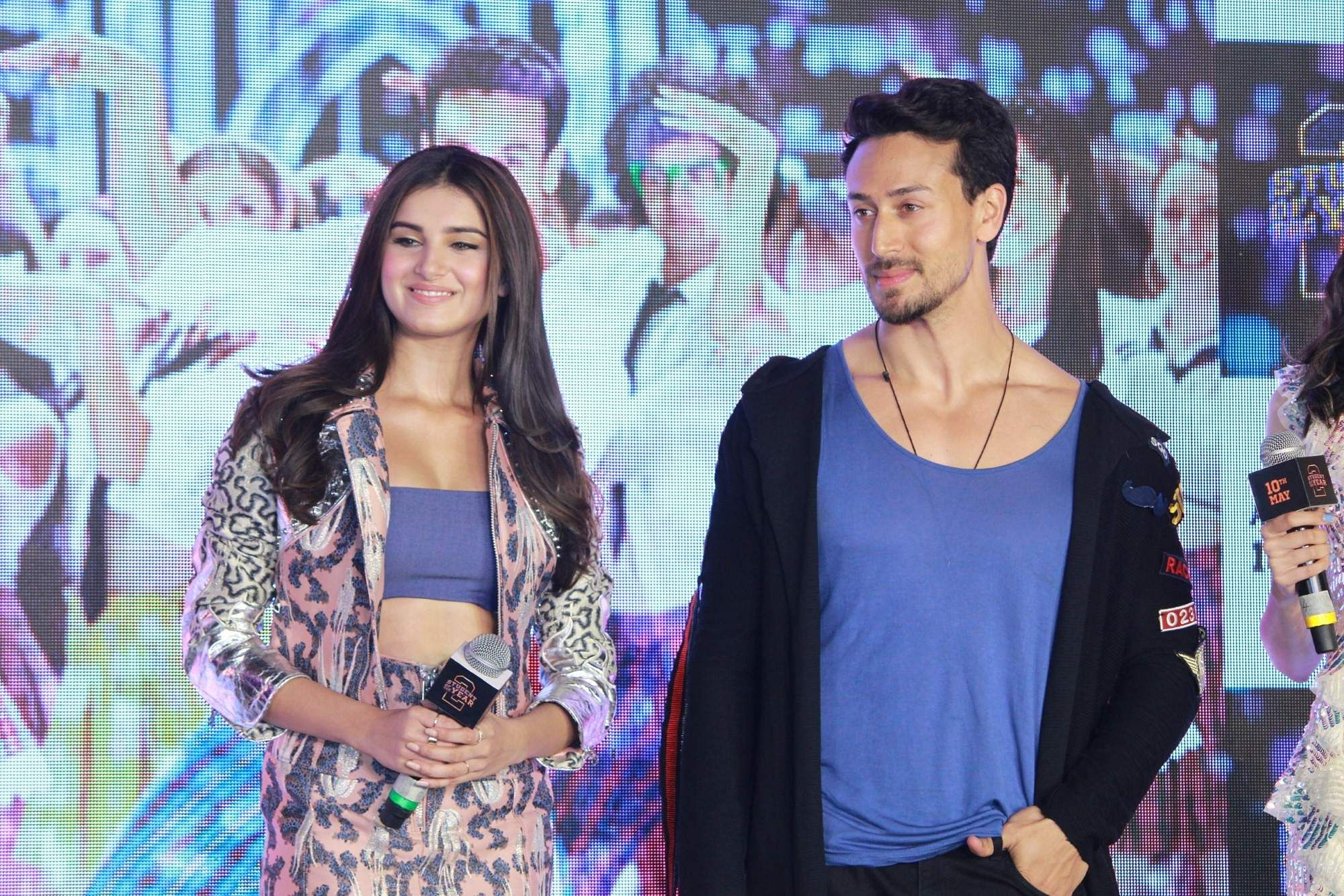 Mumbai: Actors Tara Sutaria and Tiger Shroff at the song launch of their upcoming film 'Student of the Year 2', in Mumbai, on April 18, 2019. (Photo: IANS)