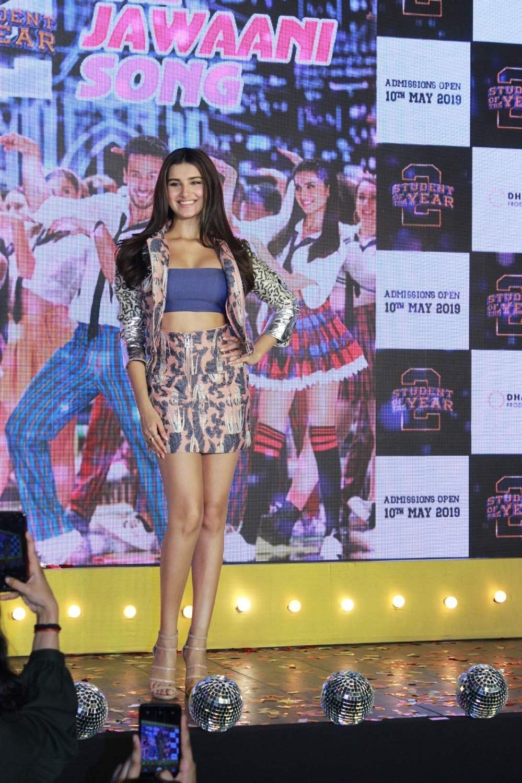 Mumbai: Actress Tara Sutaria at the song launch of her upcoming film 'Student of the Year 2', in Mumbai, on April 18, 2019. (Photo: IANS)