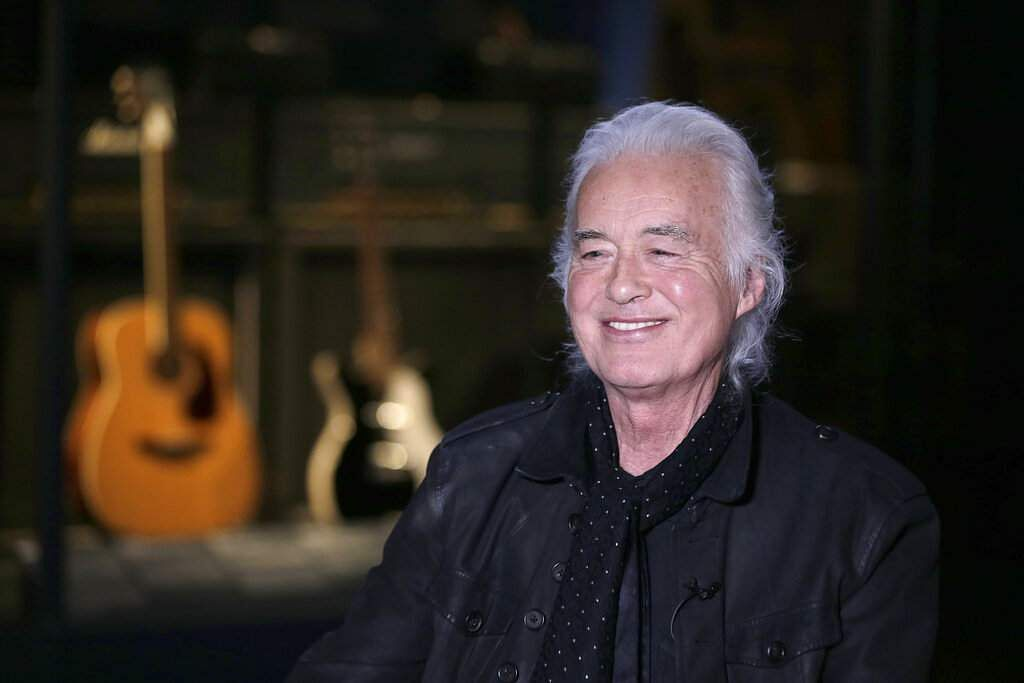 Jimmy Page at the Metropolitan Museum of Art in New York in New York. (AP Photo/Seth Wenig)