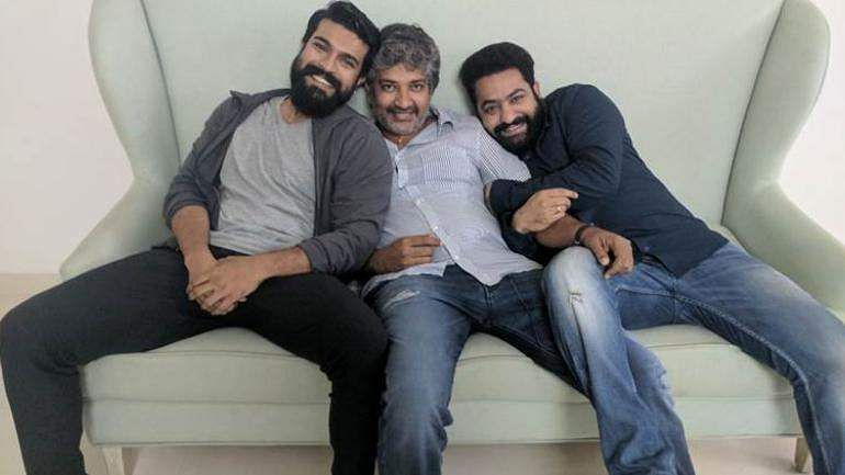 Ram Charan, Rajamouli and Jr NTR