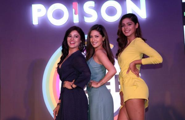 Actors Archanna Guptaa, Riya Sen and Pranati Rai Prakash at the launch of their upcoming web series 'Poison' in Mumbai, on April 18, 2019. (Photo: IANS)