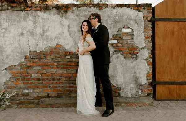 Michelle Branch and Patrick Carney pose for a photo in New Orleans. (Katch Silva via AP)