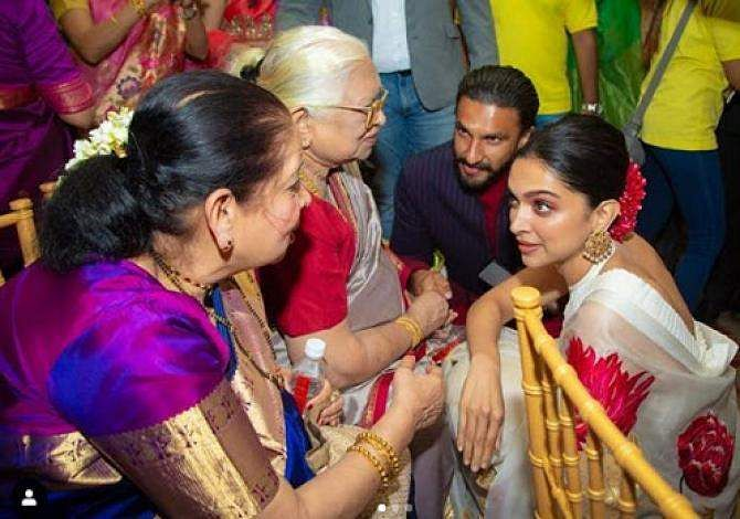 See Pictures Deepika Padukone Attends Cousins Wedding With Ranveer