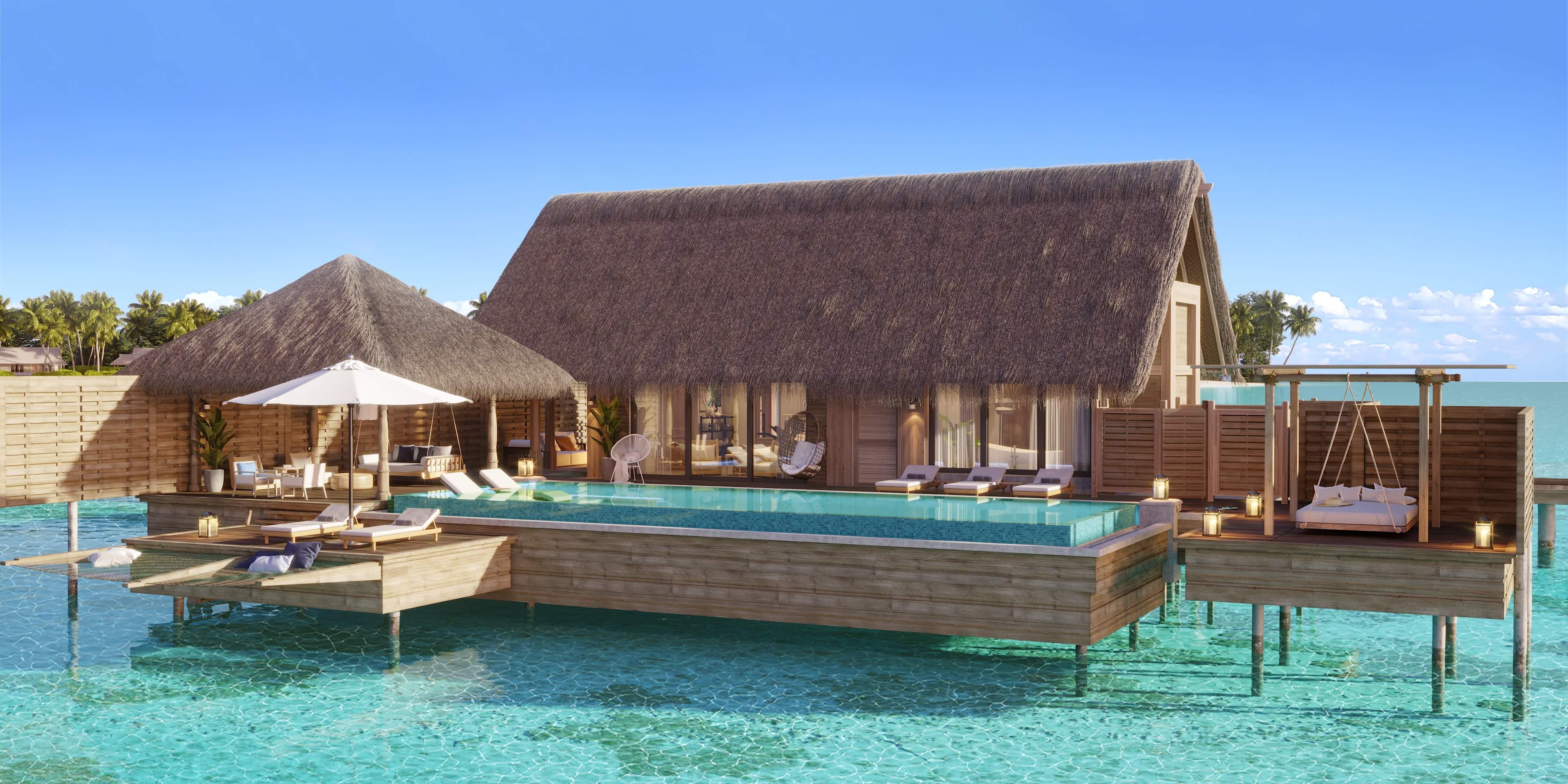 Waldorf Astoria Maldives Ithaafushi: Bedroom Overwater Villa Exterior