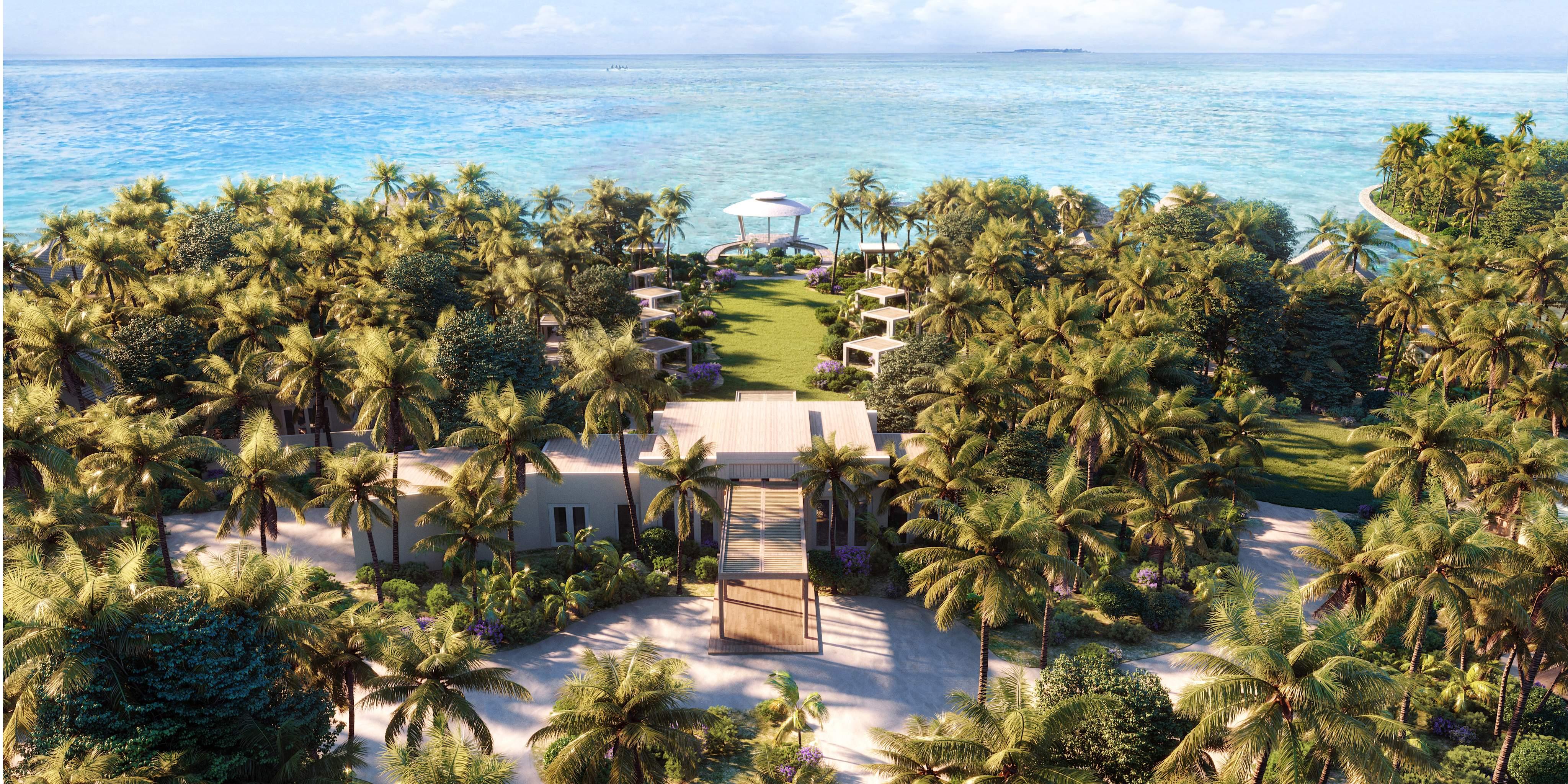Waldorf Astoria Maldives Ithaafushi - Spa Aerial View