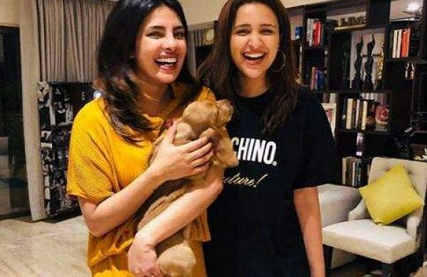 Priyanka and Parineeti with Bailey