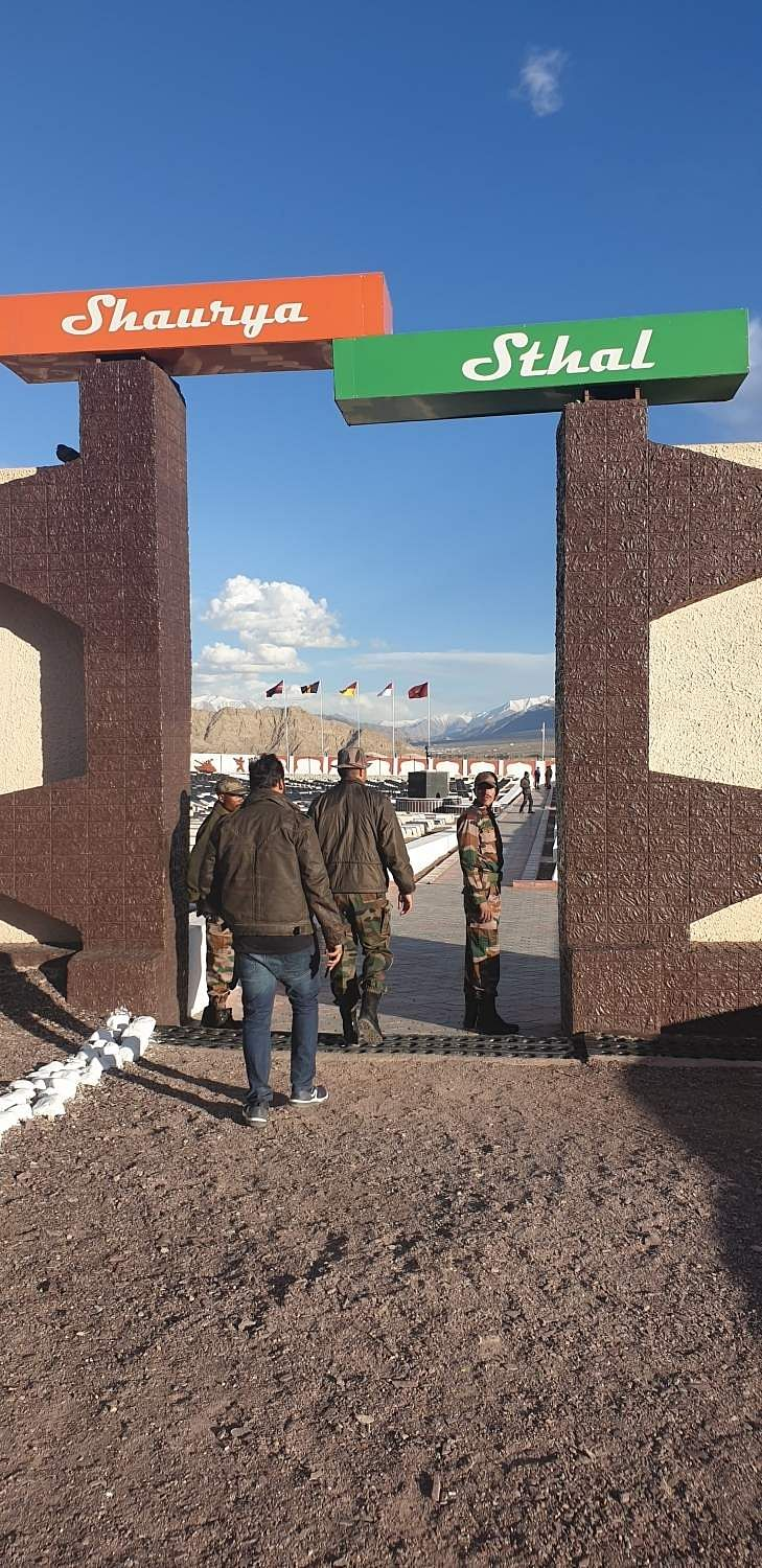 Leh: A view of the Shaurya Sthal near the Hall of Fame in Leh, Jammu and Kashmir. (Photo: Pranay Bhardwaj/IANS)