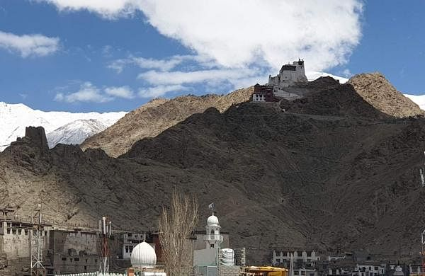 Leh: A view of the Leh Palace in Jammu and Kashmir. It is a former royal palace that was built by King Sengge Namgyal in the 16th century. (Photo: Pranay Bhardwaj/IANS)