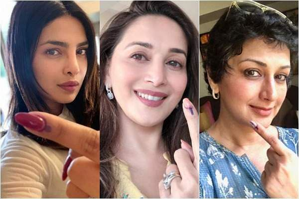 Bollywood celebs Priyanka Chopra, Madhuri Dixit and Sonali Bendre vote in Mumbai