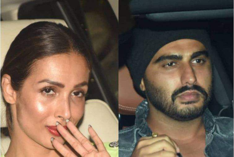 Malaika and Arjun at the bash