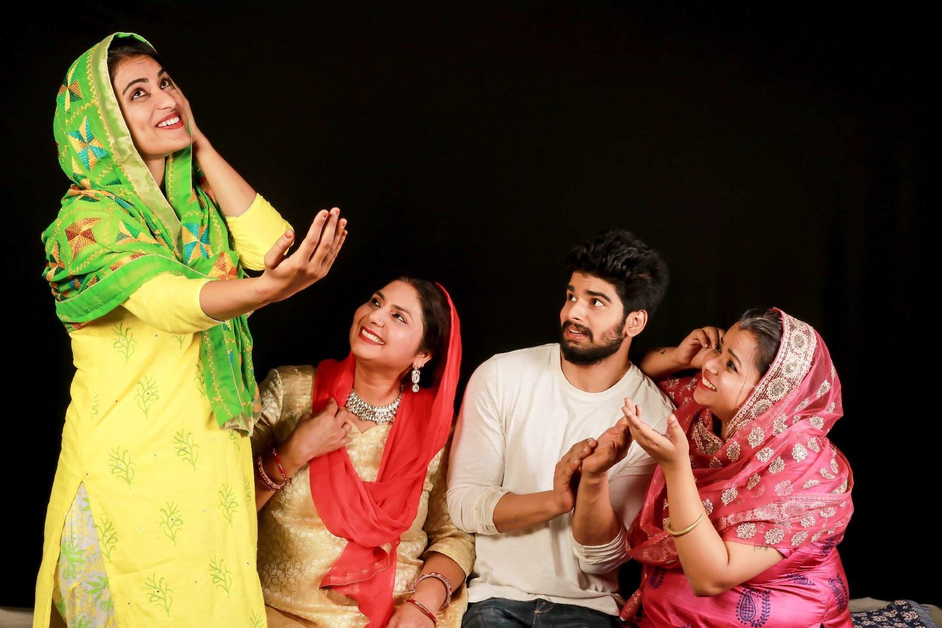 A scene from the play from Shaadi Ki Kirkiri