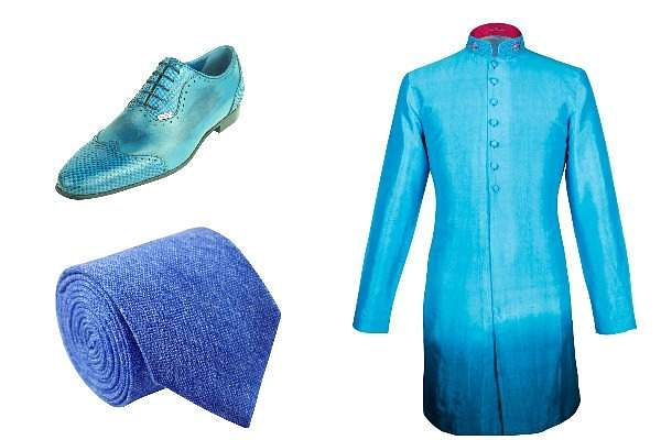 This Indian designer who made the ocean his muse, has created menswear that is blue from head to toe