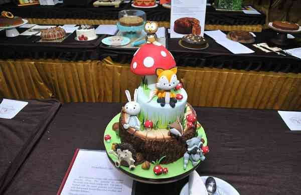 A fondant cake at their event