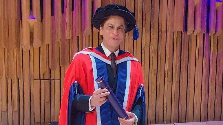 'Charity should be done in silence and with dignity': Shah Rukh Khan receiveshonorary doctorate for