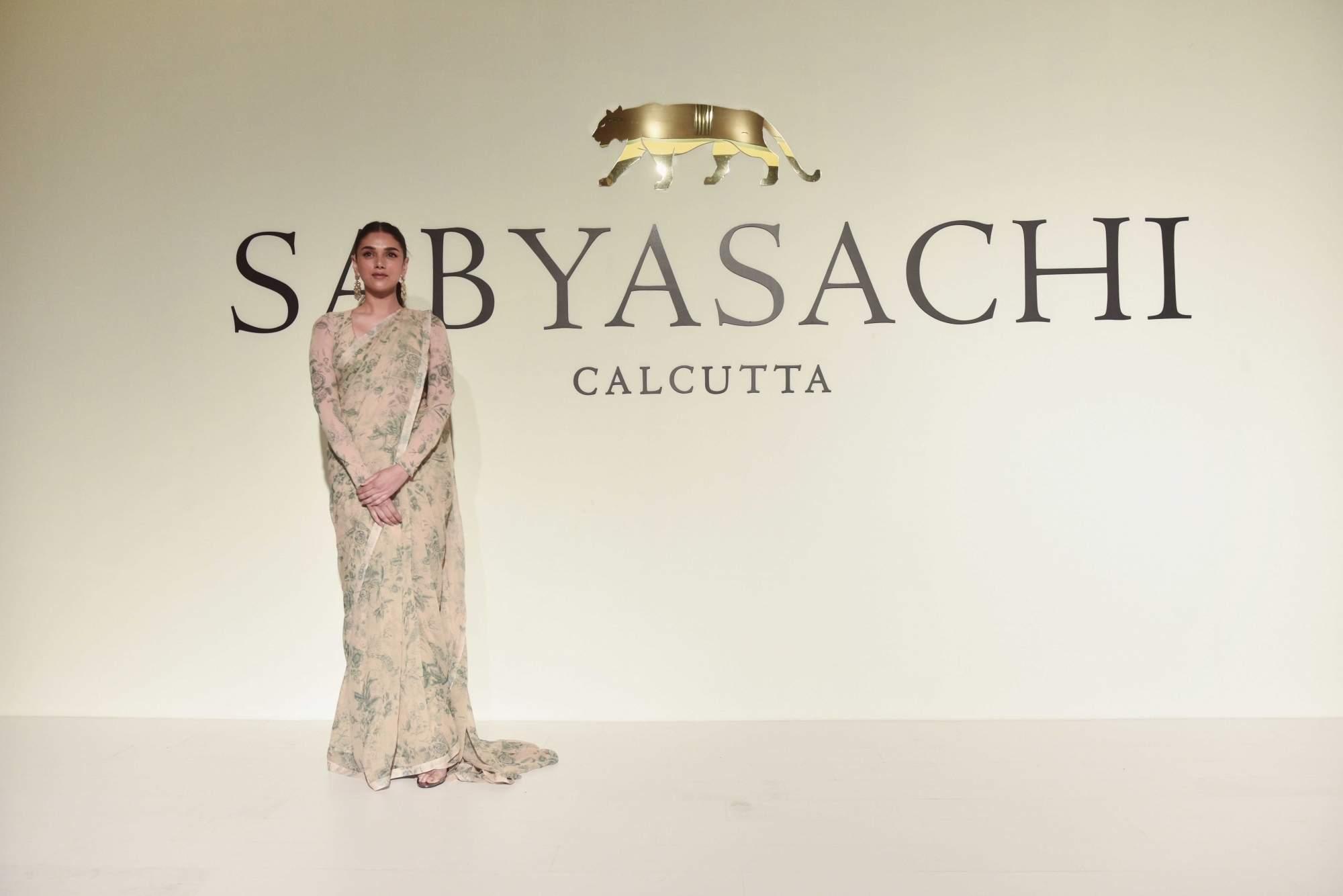 New Delhi: Actress Aditi Rao Hydari at the 20th year celebrations of fashion designer Sabyasachi Mukherjee's brand 'Sabyasachi', in New Delhi, on April 6, 2019. (Photo: IANS)