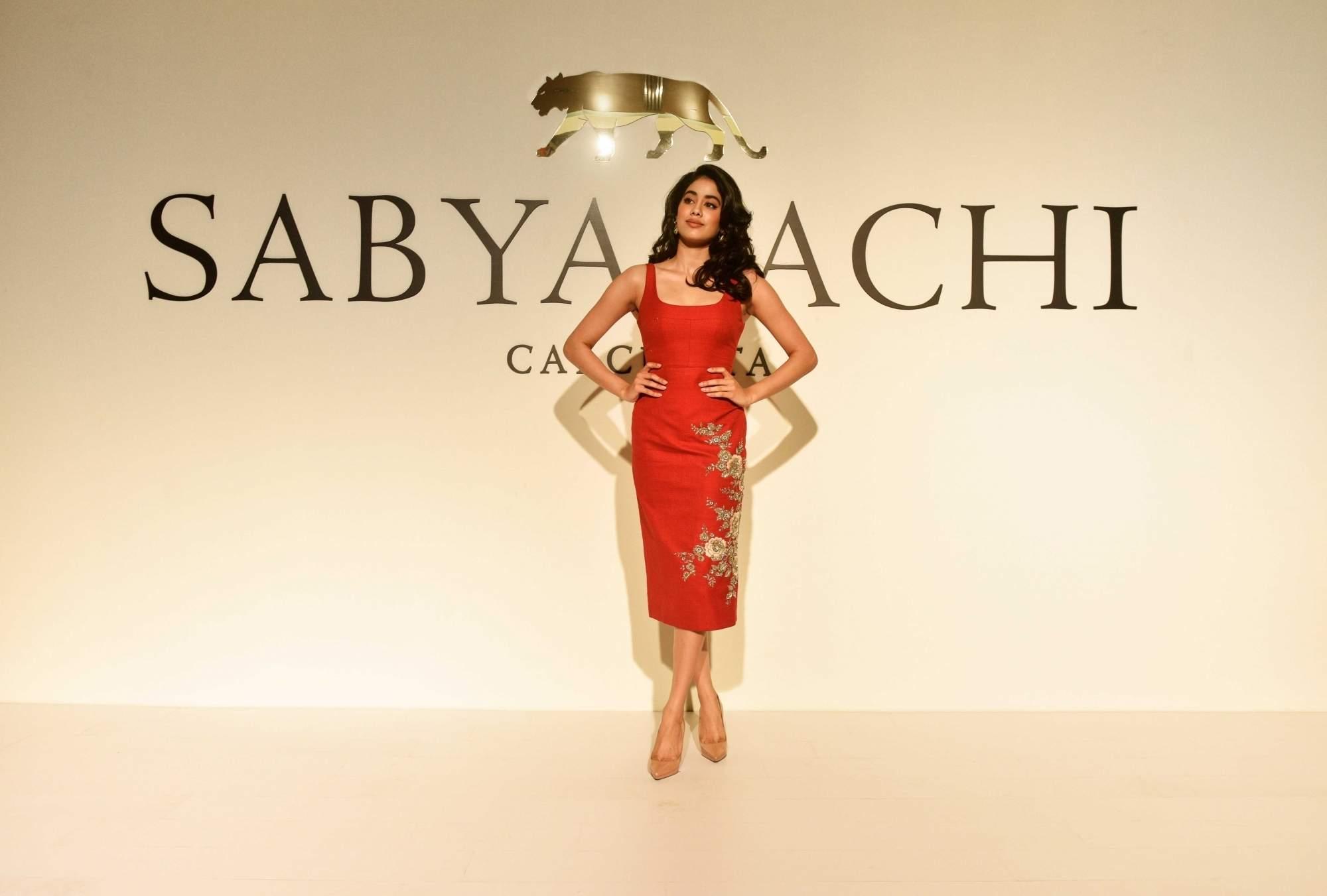 New Delhi: Janhvi Kapoor at the 20th year celebrations of fashion designer Sabyasachi Mukherjee's brand 'Sabyasachi', in New Delhi, on April 6, 2019. (Photo: IANS)