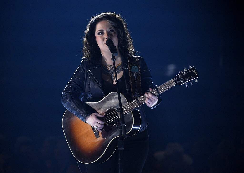 Ashley McBryde performs 'Girl Goin' Nowhere' at the 54th annual Academy of Country Music Awards at the MGM Grand Garden Arena in Las Vegas. (Photo by Chris Pizzello/Invision/AP)