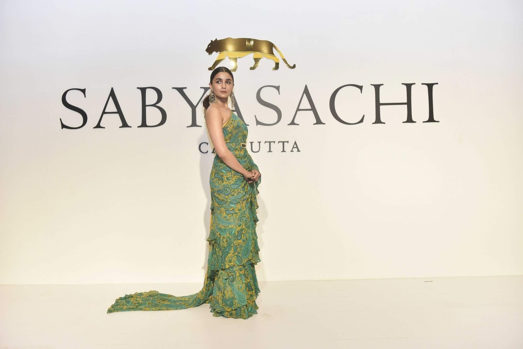 New Delhi: Alia Bhatt at the 20th year celebrations of fashion designer Sabyasachi Mukherjee's brand 'Sabyasachi', in New Delhi, on April 6, 2019. (Photo: IANS)