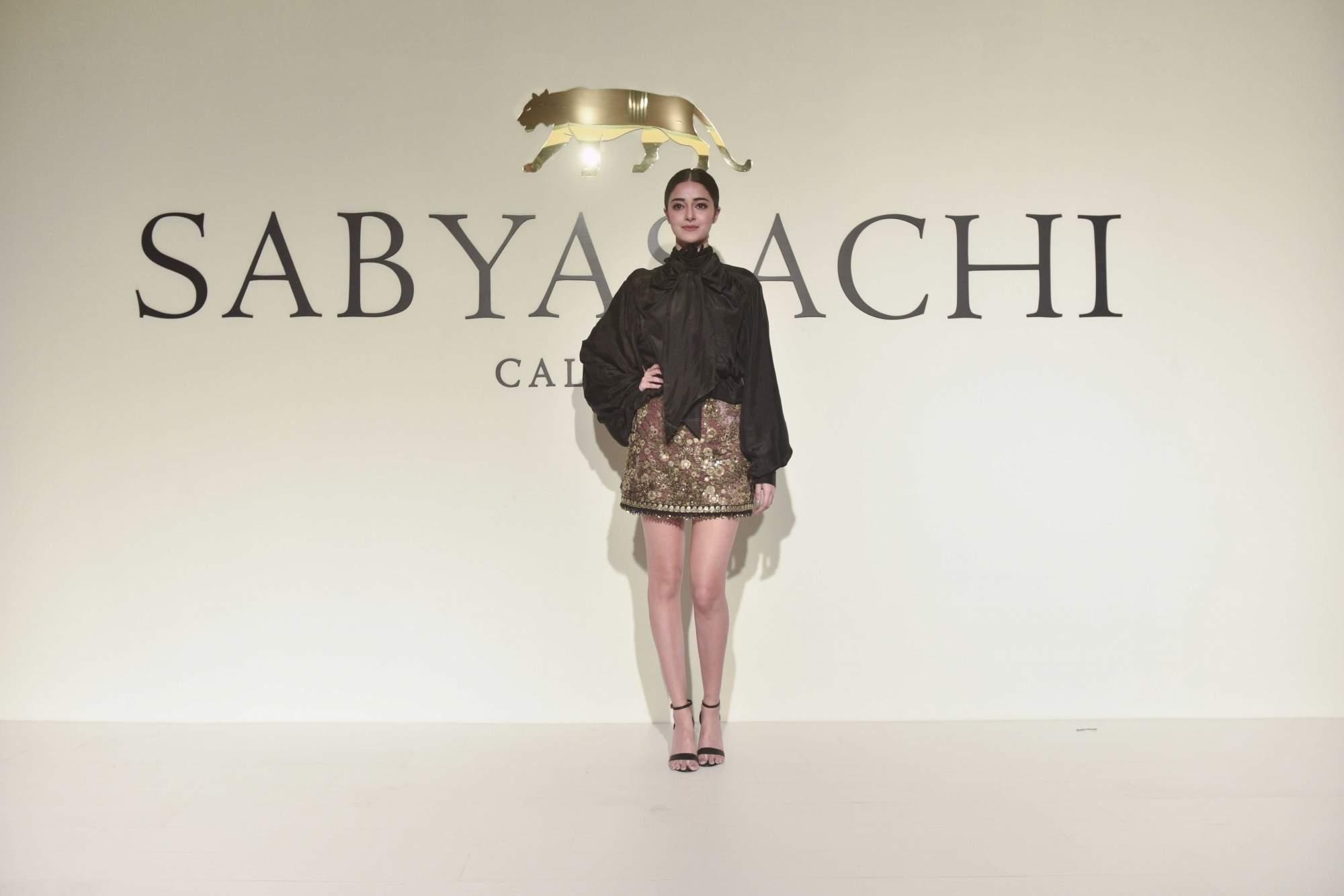 New Delhi: Actress Ananya Pandey at the 20th year celebrations of fashion designer Sabyasachi Mukherjee's brand 'Sabyasachi', in New Delhi, on April 6, 2019. (Photo: IANS)
