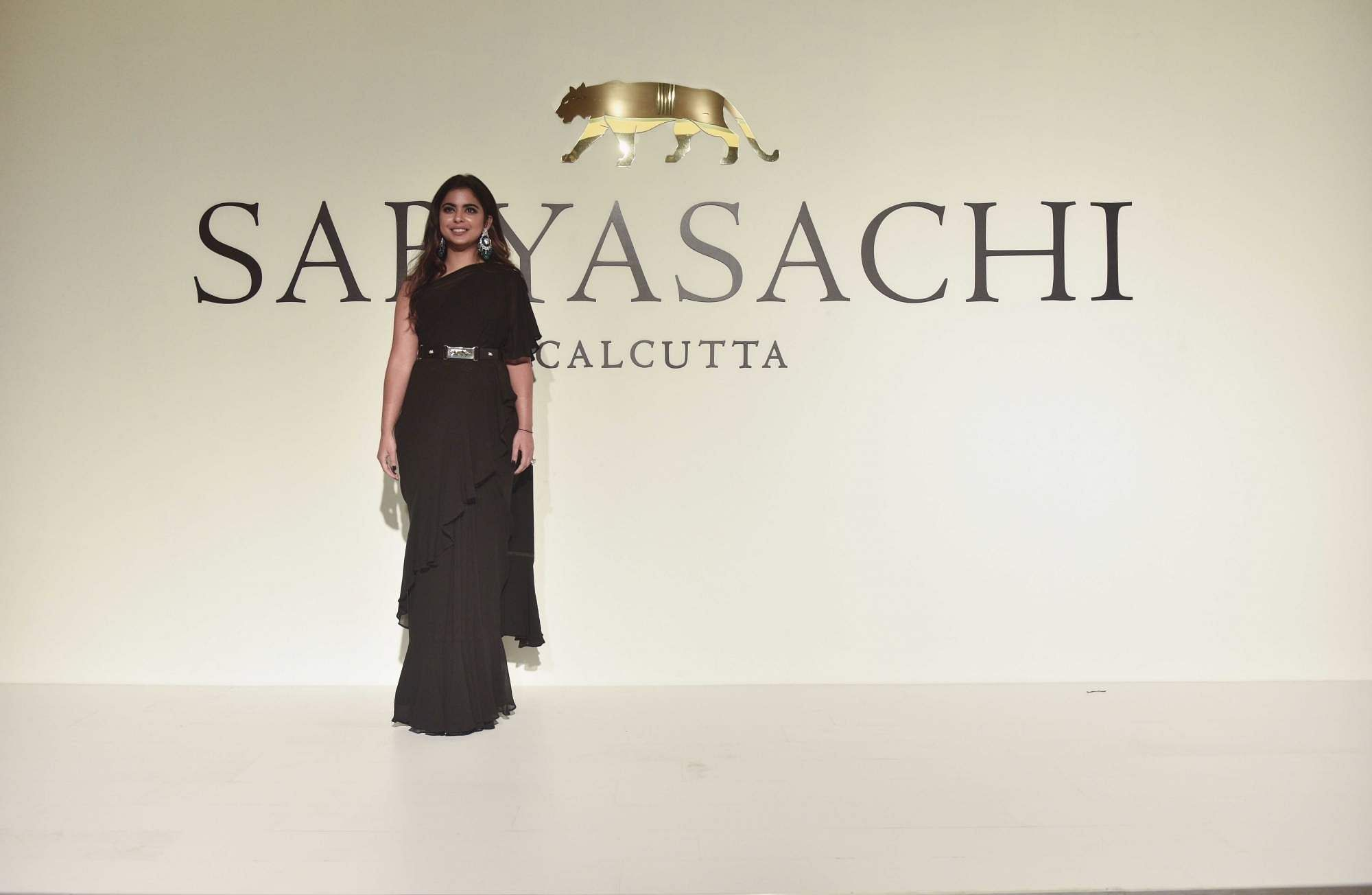 New Delhi: Isha Ambani at the 20th year celebrations of fashion designer Sabyasachi Mukherjee's brand 'Sabyasachi', in New Delhi, on April 6, 2019. (Photo: IANS)