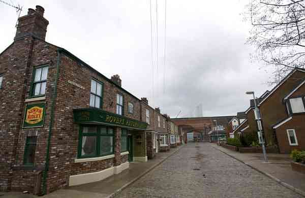 Film set of Coronation Street, in Manchester, England (AP Photo/Jon Super, FILE)
