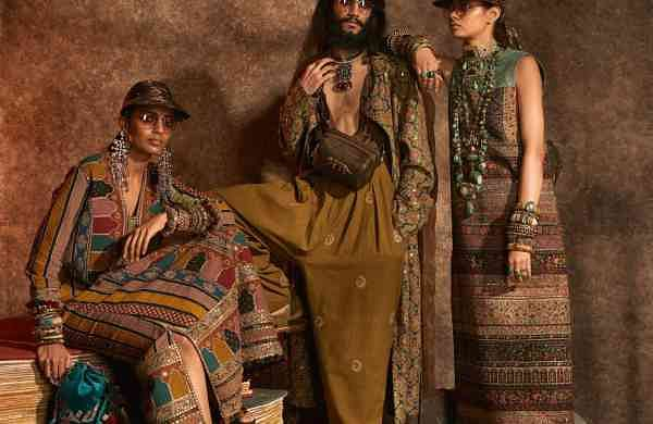 New Delhi: Models showcase Kashgaar Bazaar by Sabyasachi Mukherjee (Photo: IANS)