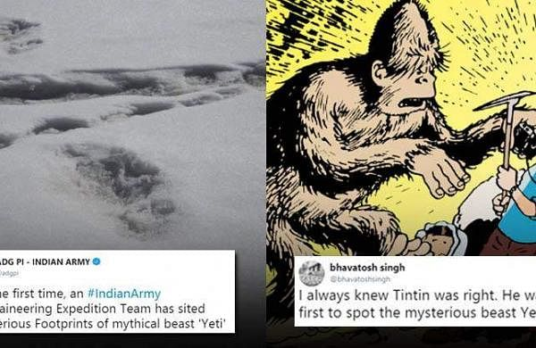 Twitter is on a Yeti meme fest as Indian Army claims to have spotted footprints of the mystical crea