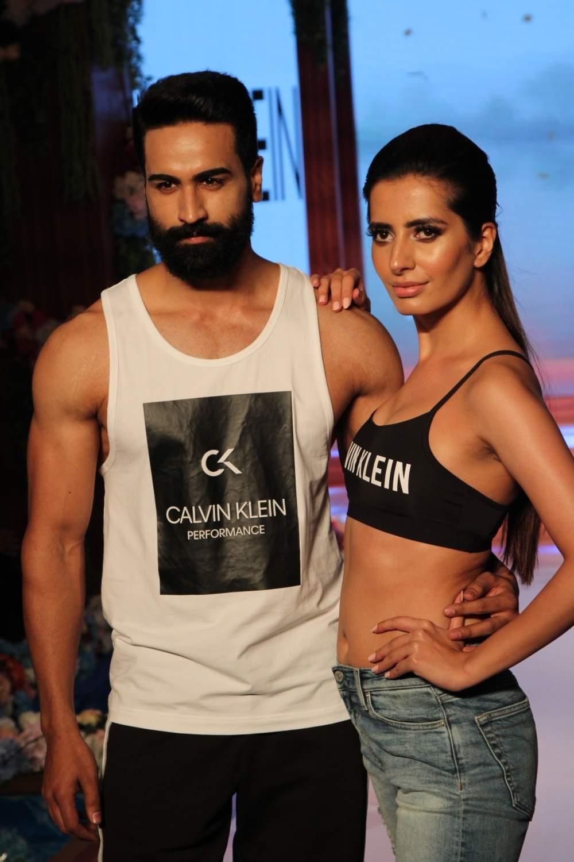 Noida: Models walk the ramp during a fashion show in Noida, on May 10, 2019. (Photo: Amlan Paliwal/IANS)