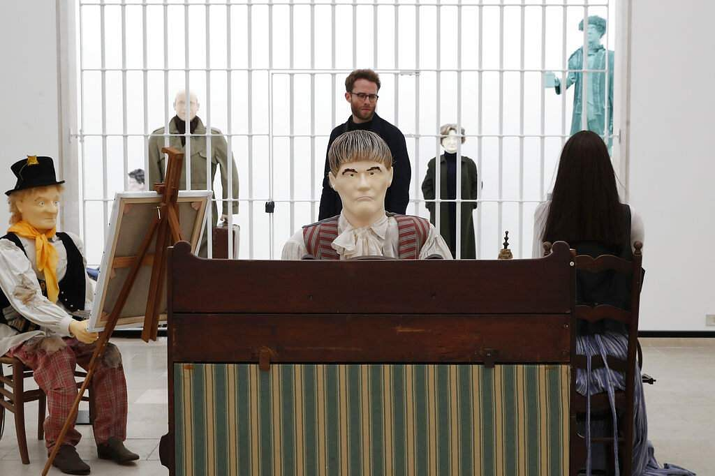 The Mondo Cane installation by Jos de Gruyter & Harald Thys at the Belgium pavilion of the 58th Biennale of Arts in Venice, Italy. (AP Photo/Antonio Calanni)