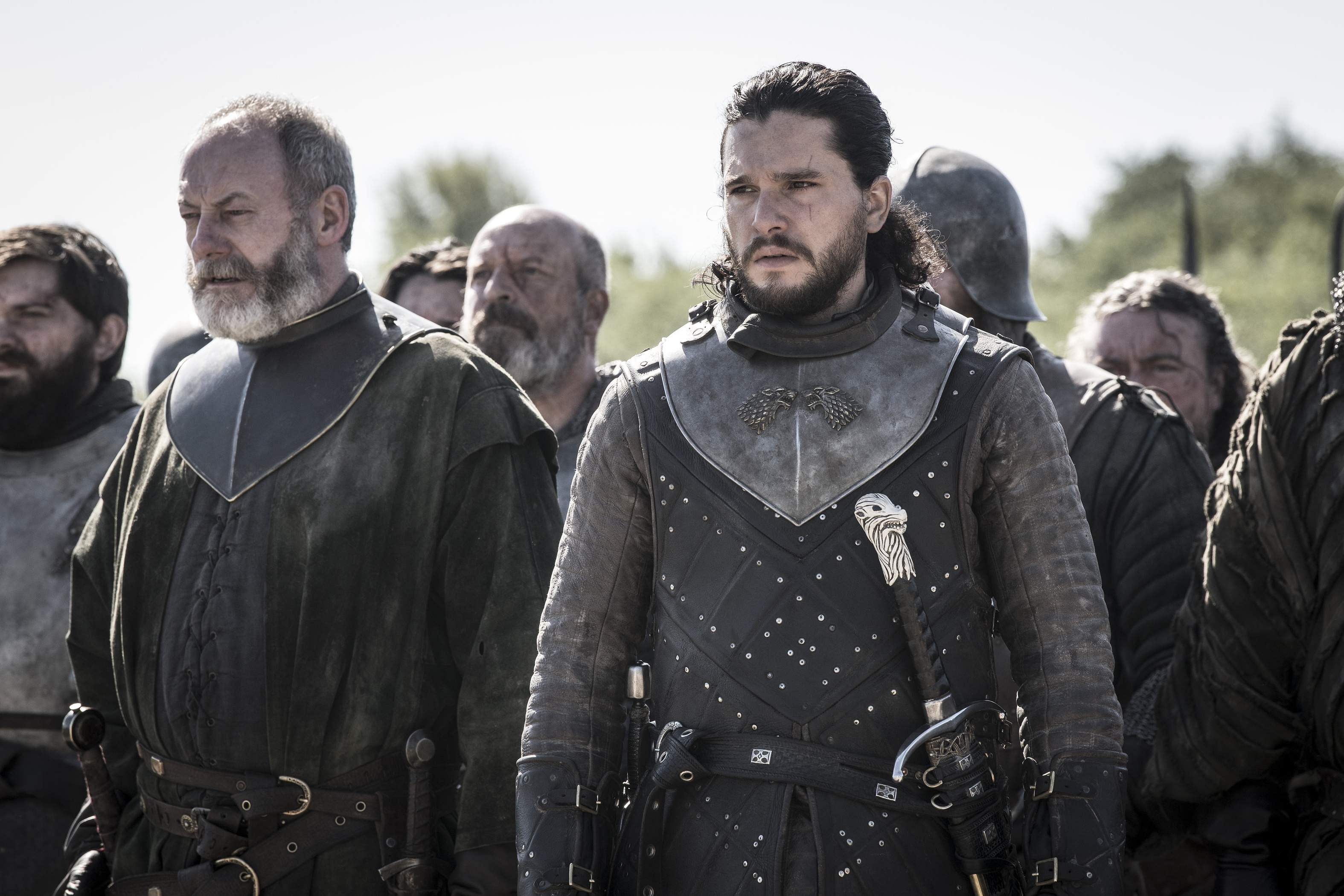 Kit Harington & Liam Cunningham in Ep05 S08. Game of Thrones, HBO and related service marks are the property of Home Box office, Inc. All rights reserved. Airs on Star World/HD every Tuesday, 10 pm.