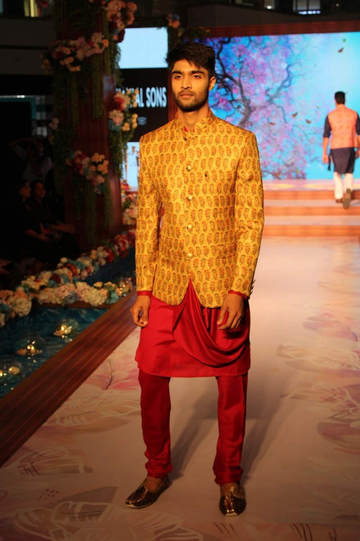 Noida: A model walks the ramp during a fashion show in Noida, on May 10, 2019. (Photo: Amlan Paliwal/IANS)