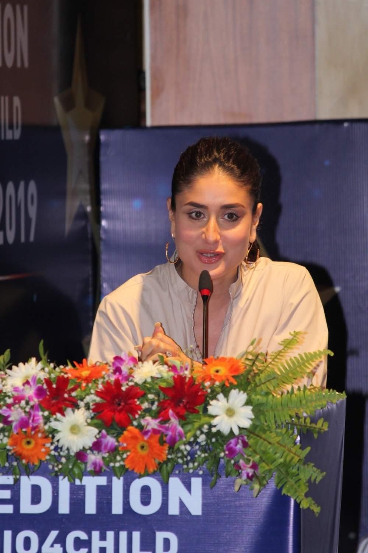 Actress Kareena Kapoor Khan addresses the third edition of the UNICEF-AROI Radio4Child Awards event, in Mumbai, on May 10, 2019. (Photo: IANS)