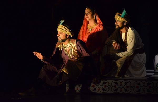 A still from the play Aurangzeb