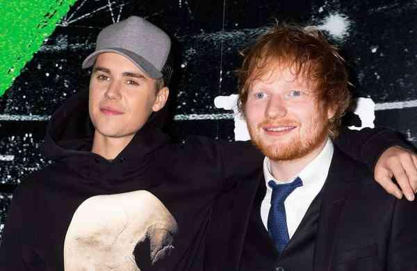 Justin Beiber and Ed Sheeran