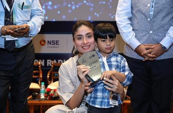 Actress Kareena Kapoor Khan addresses the third edition of the UNICEF-AROI Radio4Child Awards event, in Mumbai, on May 10, 2019. (Photo: IANS)