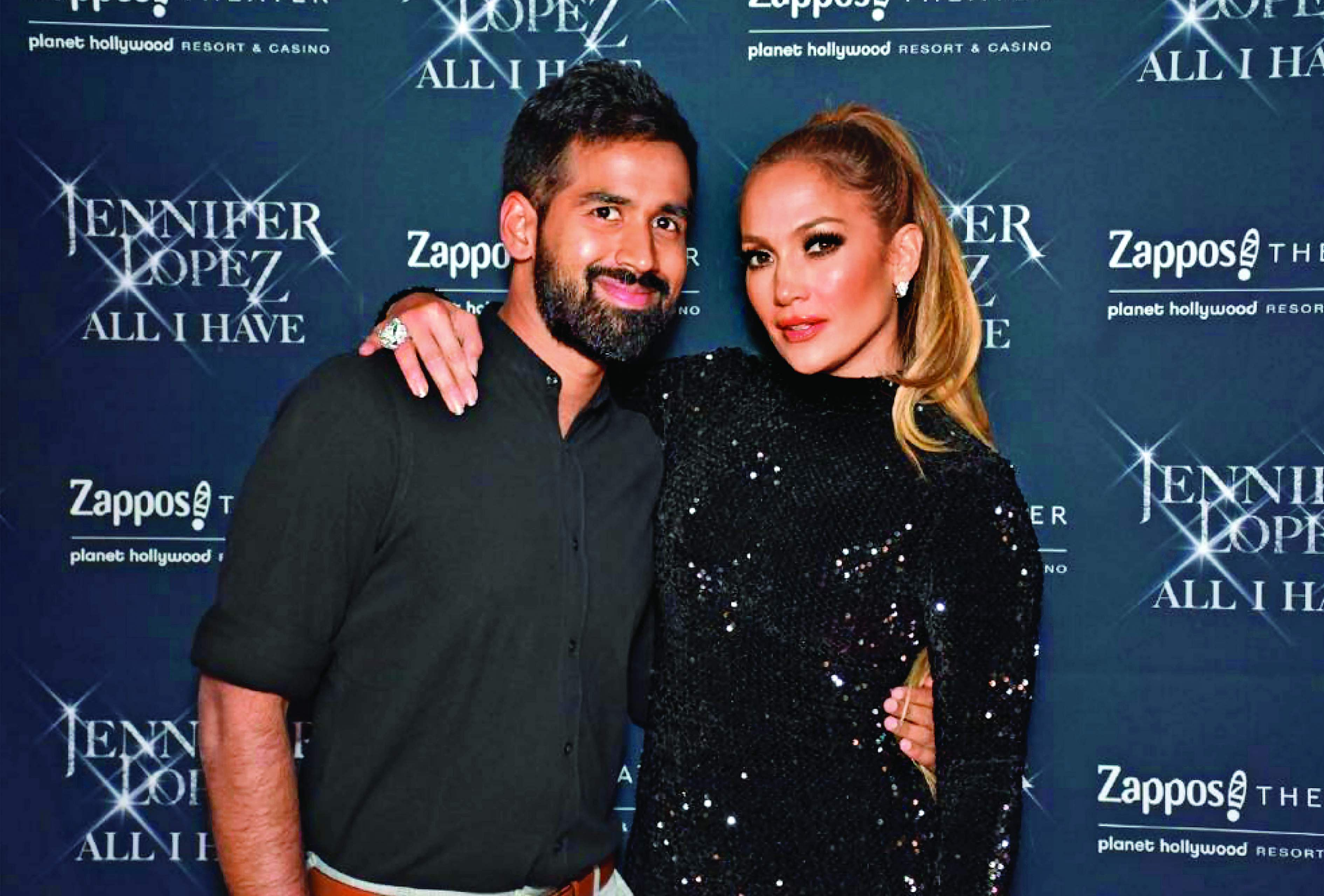 Sarvesh Shashi with Jennifer Lopez