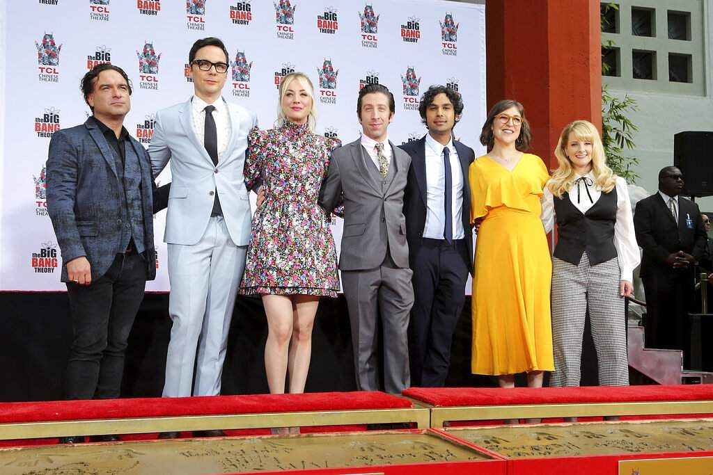 The cast of of The Big Bang Theory. (Photo by Willy Sanjuan/Invision/AP)