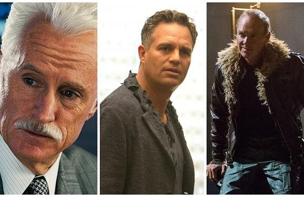 John Slattery, Mark Ruffalo, and Michael Keaton