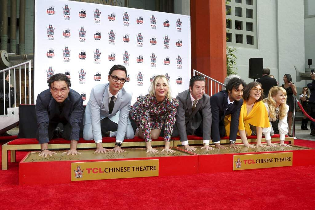 Cast of The Big Bang Theory. (Photo by Willy Sanjuan/Invision/AP)