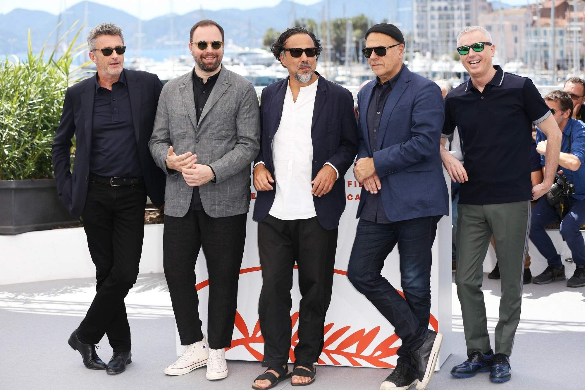 Cannes (Xinhua): Members of the feature films jury pose before the opening of the 72nd Cannes Film Festival in Cannes, France, May 14, 2019. (Xinhua/Gao Jing/IANS)