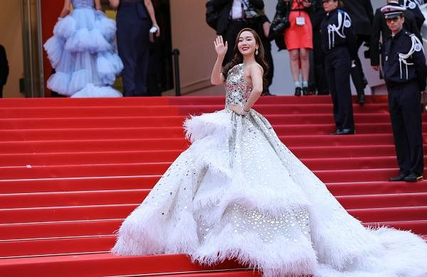 Cannes (Xinhua): Actress and singer Jessica Jung at the opening gala of the 72nd Cannes Film Festival at Palais des Festivals in Cannes, France, on May 14, 2019. (Xinhua/Zhang Cheng/IANS)